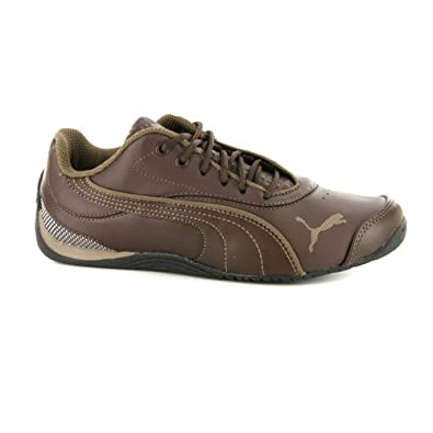 d773c5f8943 Boys Puma Drift Cat III Brown Leather Trainers UK 13.5   EUR 32.5   Amazon.co.uk  Shoes   Bags