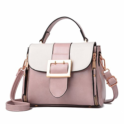 Wristlet Vintage Body Casual MSZYZ with Large Shoulder Pockets Shoulder Pink Many Shoulder Capacity Soft Small Women's Cross PU Bags Leather Clutch gEgqY