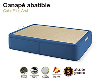 Canapé Abatible Tapizado Elfos Azul 90x190cm Envio y montaje gratis: Amazon.es: Hogar