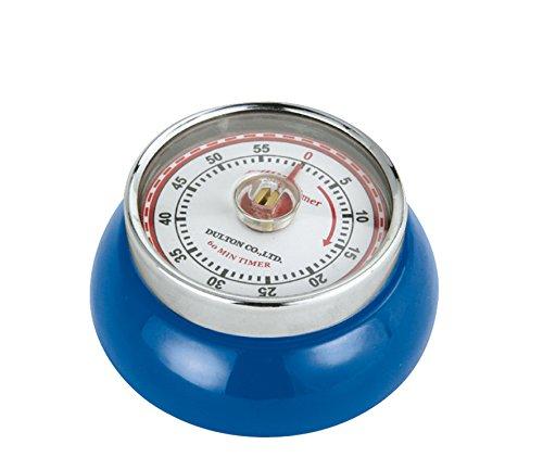 Zassenhaus M072273 Steel Retro Magnetic Kitchen Timer, Blue