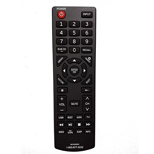 Durpower HDTV Smart Sanyo MC42NS00 Remote Control Controller For Sanyo FW32D25T, FW42D25T, FW55D25F, FW65D25T, LCD-42K40HD, MC42NS00 (Sanyo Dp26640 Tv)