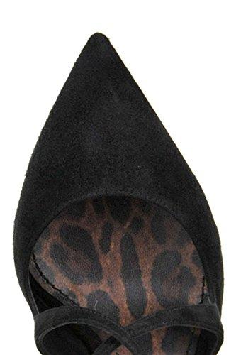 Gabbana MCGLCAT04000I Dolce Suède Noir E Escarpins Femme fqBwx87