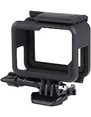 QIMEI-SHOP Behuizing frame compatibel met GoPro Hero 7/6/5/(2018) Black actiecamera's Accessoires Beschermende behuizing Case met sokkel en schroef Zwart