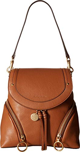 - See by Chloe Women's Olga Convertible Backpack, Caramelo, One Size