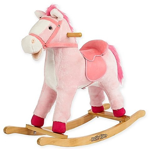 Pony Suede Saddle - Rockin' Rider Dazzle Rocking Horse in Pink