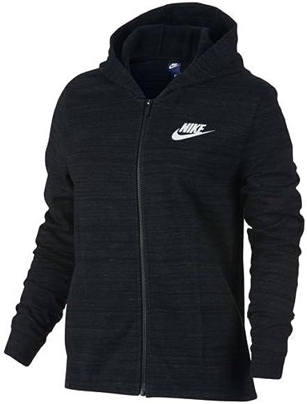 440ef2e9 Amazon.com: Nike Women's Sportswear Advance 15 Jacket, Black (S ...