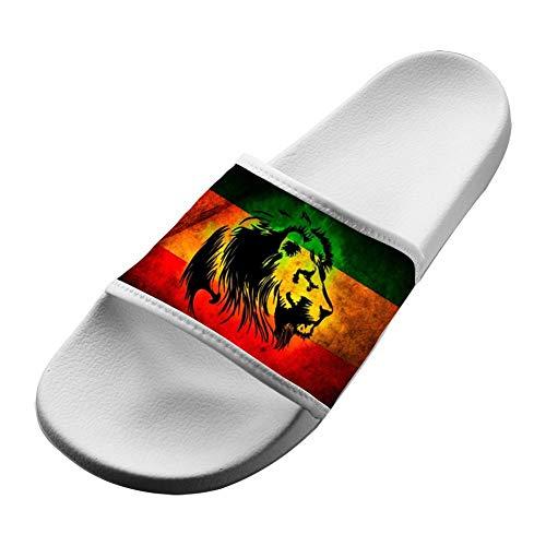 SsSEYYA Anti-Slip Indoor Floor Sandal Bath Slipper Jamaican Lion for Women Men White Men 10 (M) US (Sonnenbrillen Online Shop)