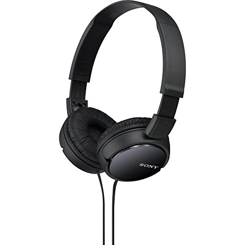 Sony Slim Lightweight Dynamic Studio Monitor Stereo Headphones with Pressure Relieving Earpads, Swivel Earcups, High Power Neodymium Magnets, 30mm Deep Bass Drivers, Multi-Layer Dome Diaphragms and a Noise-Reducing Closed Supra-Aural Design - Black - Compatible with all Portable and Home Audio Players
