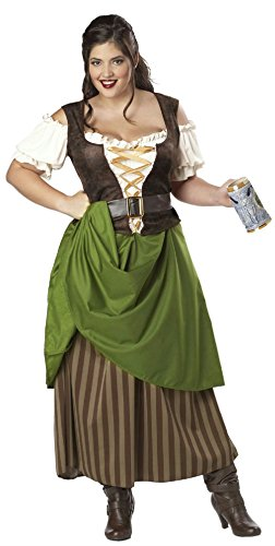 Tavern Maiden Womens Costume (Tavern Maiden Adult Costume Size 2X Large 18-20)