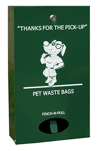 Pet Waste Bag Dispenser, Aluminum, with 400 Dog Waste Bags Free! PNP-600 ( PWC-015 )