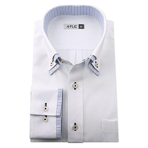 チューブ交渉するカフェFLiC ワイシャツ 長袖 形態安定 20種類から選べる デザイン st