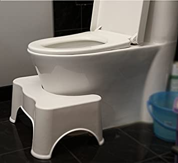 Bathroom Toilet Stool, Home Toilet Footstool No Slip Toilet Step Bathroom  Step Pad Thicken
