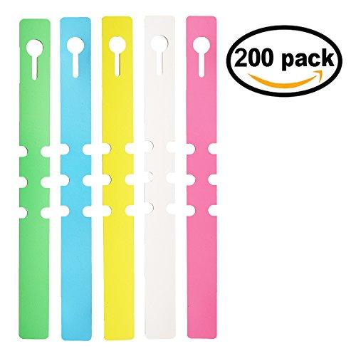 Mr-Label® 200pcs Wrap Around Plastic Plant Nursery Garden Labels Tags - 2x20cm