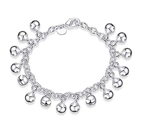 Weishu 925 Sterling Silver Adjustable Anklet - Classic Chain Ankle Bracelets - 9
