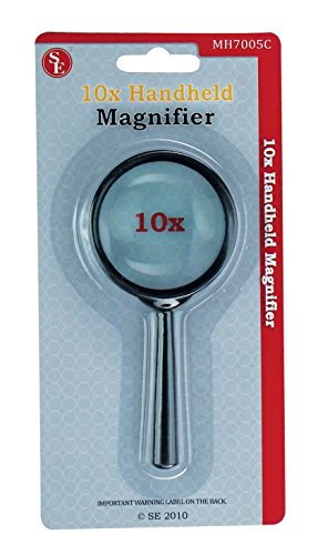 SE MH7005C 5x Handheld Magnifier, 2-inch Glass Lens - Mall Optical International