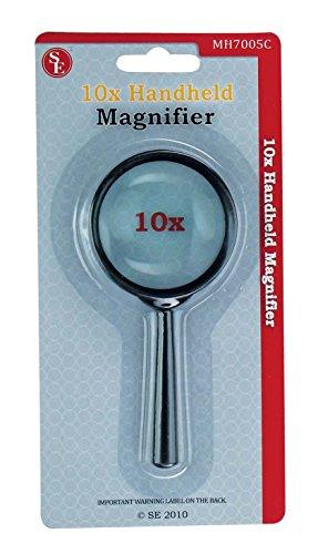 SE MH7005C 5x Handheld Magnifier, 2-inch Glass Lens Dia.