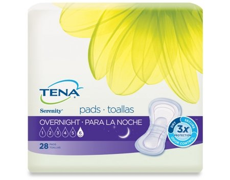 TENA Serenity Overnight Ultimate Pads, 28 Count - Pack of 6