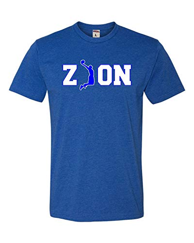 Go All Out XX-Large Royal Blue Adult Zion Basketball Deluxe T-Shirt