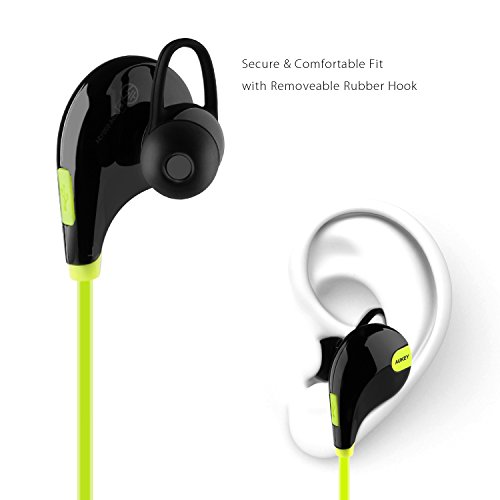 aukey bluetooth headphones wireless sport earbuds with built in remote mic for iphone android. Black Bedroom Furniture Sets. Home Design Ideas