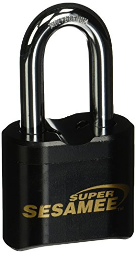 Sesamee K637 4 Dial Bottom Resettable Combination Brass Padlock with 2-Inch Shackle and 10,000 Potential - Combination Lock American
