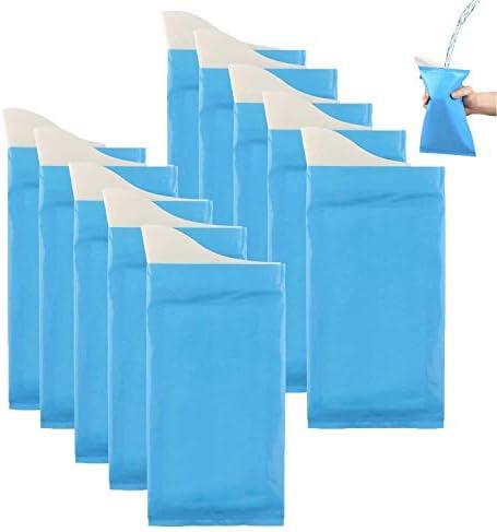 [スポンサー プロダクト]携帯トイレ 非常用 簡易トイレ驚異の防臭袋 使い捨てトイレ ペット用、キッチン用、災害対策用、介護用 トイレ 10個セット男女兼用 (10パック+10ゴミ袋)