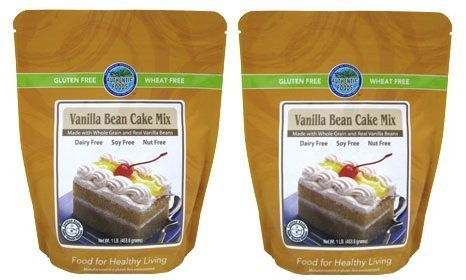 Authentic Foods Vanilla Bean Cake Mix - 1 Lb Each - 2 Pack