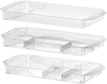 Ikea Godmorgon Meuble De Rangement Lot De 3 Transparent