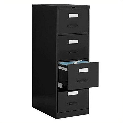 Global Office 4 Drawer Vertical Metal File Cabinet-Light Grey - Light Grey