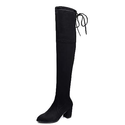 931b0f71961 Amazon.com  YUBIN Female Over The Knee Boots