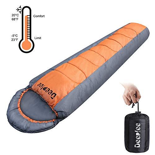 Deeplee Mumienschlafsack Ultraleicht Schlafsack,3 Jahreszeiten leicht mit Handtasche,wasserdicht Schlafsack für Indoor…