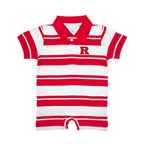 fan products of Rutgers Scarlet Knights NCAA College Infant Baby Rugby Striped Romper (12 Months)