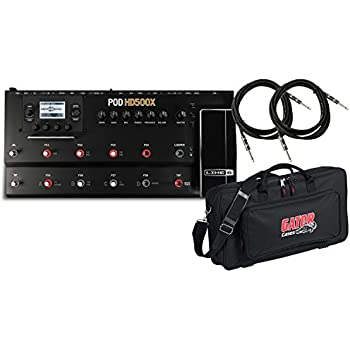Line 6 POD HD500X Guitar Multi-Effects Processor w/DLX Pedal Bag and (2) 18.6' Guitar Cables