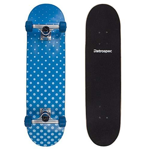Retrospec by Westridge Alameda Skateboard Complete with ABEC-11 & Canadian Maple Deck, Blue Halftone