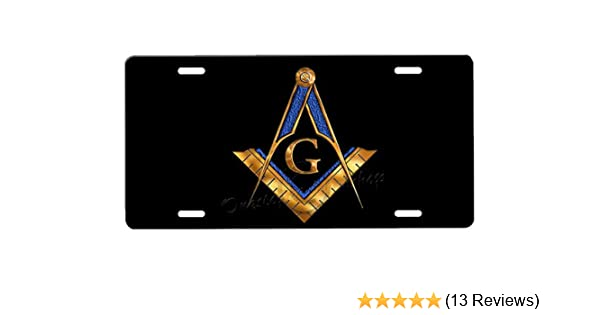 onestopairbrushshop Masonic License Plate