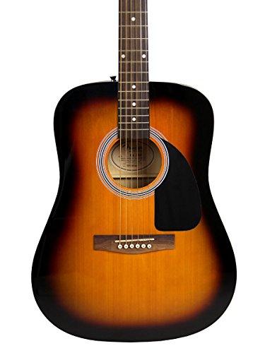 Fender FA-100 Dreadnought Acoustic Guitar - Sunburst Bundle with Hard Case, Tuner, Strings, Strap, and Picks - Image 4