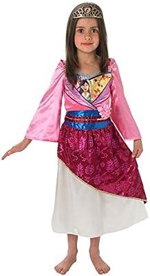Rubies - Disfraz de Mulán brillante infantil (889217-M): Amazon.es ...