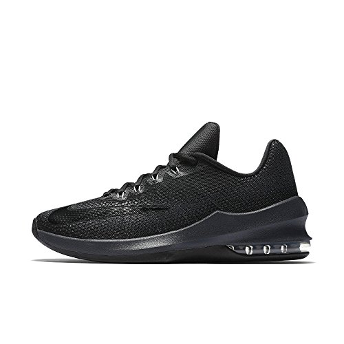 d298cbf5fdb Nike Men s Air Max Infuriate Low Basketball Shoe Black Anthracite Dark Grey  Size 10 M US