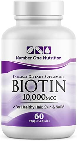 Number One Nutrition Biotin, Better Absorption and High Potency 10000mcg, 60 Count