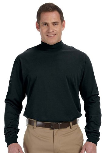 - Devon & Jones D420 - Sueded Cotton Jersey Mock Turtleneck