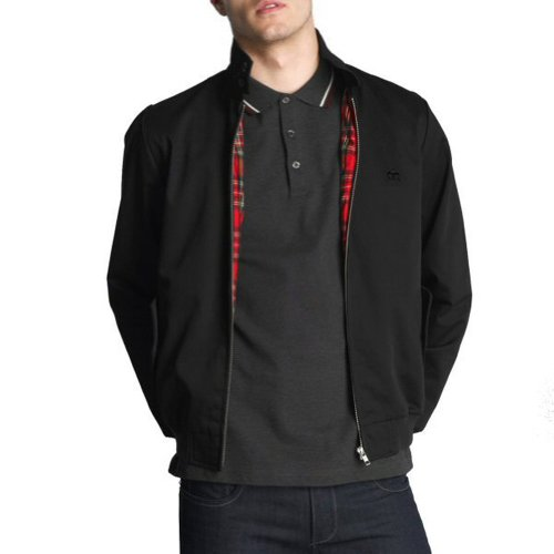 Black Harrington Jacket - Merc London Mens Harrington Jacket Black XL