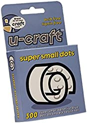 2 x U-Craft 14mm flat Scrapbook Glue Adhesive permanent Dots 96 per pack 201084