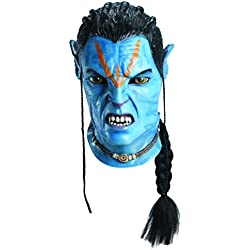 Avatar Deluxe Overhead Adult Jake Sully Latex Mask, Blue, One Size