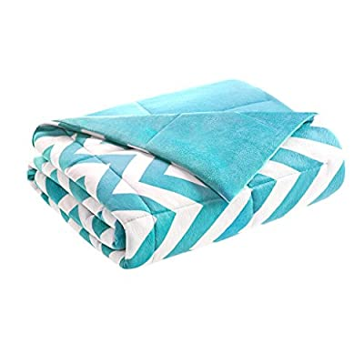 Intelligent Design Chevron Luxury Down Alternative Throw Aqua 60x70 Chevron Premium Soft Cozy Microfiber For Bed, Couch… - Set includes: 1 throw Materials: 100percent polyester filling: 100percent fiber Measurements: 60-by-70-inch blanket - blankets-throws, bedroom-sheets-comforters, bedroom - 41cTIuc ilL. SS400  -