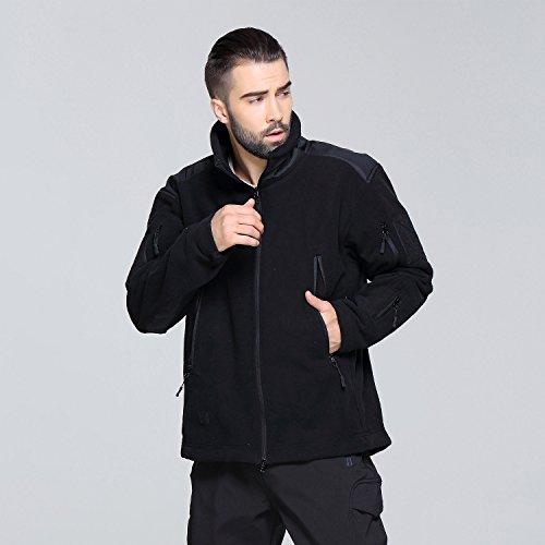 Softshell Belloo Impermeabile Black In Rivestimento Uomo Militare Da 2 Cappuccio Pile Con Giacca E qHwPCqrf