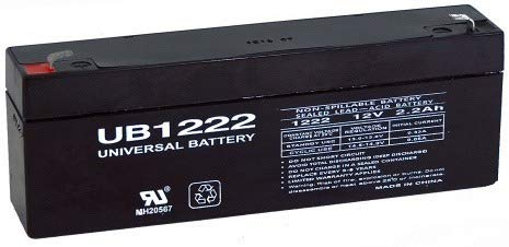 Universal Power Group 12V 2.2AH Sealed Lead Acid Battery for UB1223 Amp ES2.3- NP2.3-12 PS-1223