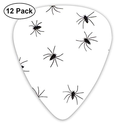 (Halloween Danger Fear Group Horror Insect Spider Small Medium Large 0.46 0.73 0.96mm Mini Flex Assortment Plastic Top Classic Rock Electric Acoustic Guitar Pick Accessories Variety)