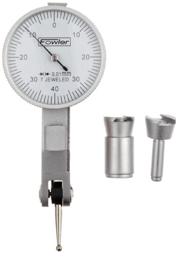 - Fowler 52-563-677 Metric White Face Dial Test Indicator Satin Chrome Finish, 0.01mm Graduation Interval, 0.08mm Maximum Measuring Range, 1.25