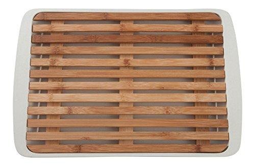 Premium Schneidebrett aus Bambus mit Krümelgitter von Coninx | Maße ca. 36x24 cm | Entnehmbares Krümelgitter ermöglicht eine leichte Reinigung