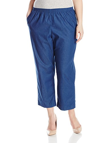 Alfred Dunner Womens Plus-Size Denim Proportioned Short Pant