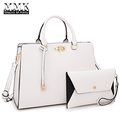MMK collection Fashion Women Purses and Handbags Ladies Designer Satchel Handbag Tote Bag Shoulder Bags with coin purse (Handbag Purse Satchel Tote Bag)